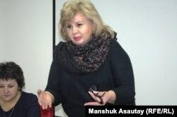 «Ulagatty žanuýa» jemgyýetçilik fondunyň prezidenti Marianna Gurina.