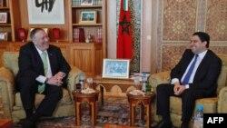 Госсекретарь США Майк Помпео на встрече с главой МИД Марокко в декабре 2019 года.