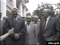 Михаил Горбачев и Борис Ельцин в Ново-Огареве. Лето 1991 года