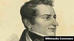 Николай Васильевич Гоголь в 1834 году. Гравюра Лаврентия Серякова с литографии профессора Венецианова