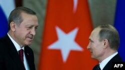 Vladimir Putin və Recep Tayyip Erdogan