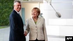 Foto nga arkivi - Presidenti Hashim Thaçi dhe kancelarja Angela Merkel