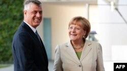 Hašim Tači i Angela Merkel