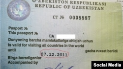 Uzbekistan - Exit visa issued by Interior Ministry of Uzbekistan