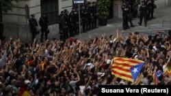 Demonstracije za nezavisnu Kataloniju u Barseloni, 3. oktobar 2017.