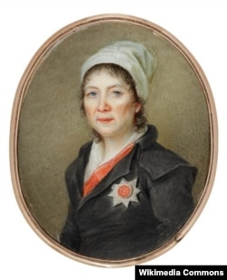 Неизвестный художник. Портрет Екатерины Дашковой. Миниатюра. Кость, акварель. 1800-е