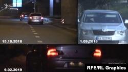 Одні й ті ж 2-3 автомобілі переслідують редакційну машину «Схем», коли вона їде на зйомки