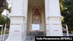 Часовня Иконы Божьей матери после инцидента закрыта