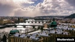Прага қаласының көрінісі.