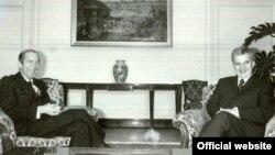 Ambasadorul Franței, Jean-François Poncet, primit de Nicolae Ceaușescu în 1978 (Foto: Fototeca online a comunismului românesc; cota: 376/1978)