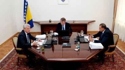 Članovi Predsjedništva BiH: Šefik Džaferović, Željko Komšić i Milorad Dodik