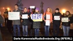 Акция журналистов на Донецком Евромайдане «Мы не боимся»