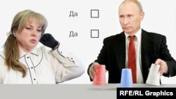 Элла Памфилова и Владимир Путин, коллаж