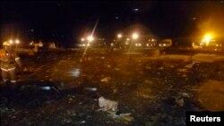 Місце падіння літака в аеропорту Казані, 17 листопада 2013 року