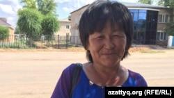Жительница села Жабасак Бибигуль Кенжегалиева. Актюбинская область, 8 августа 2016 года.