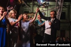Bouquet Kyiv Stage, праворуч Євген Уткін