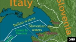 Mapa mora između Hrvatske, Slovenije i Italije