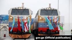 Официальное открытие железной дороги Баку – Тбилиси – Карс. 30 октября 2017 года.