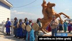 Открытие шаманского храма в Бурятии