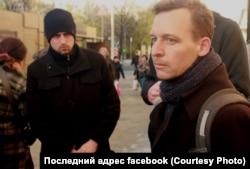 """Ян Махонин на открытии таблички """"Последний адрес"""""""