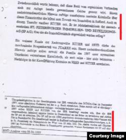 Фрагмент доклада БНД от 8 апреля 1999 г., стр. 15