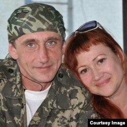 Волонтерка Анна Счасна-Гарус і її чоловік Андрій Широков, оборонець Донецького аеропорту, який загинув у бою на Світлодарській дузі 18 грудня 2016 року