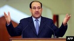 رئيس الوزراء العراقي نوري المالكي في مؤتمره الصحفي اليوم