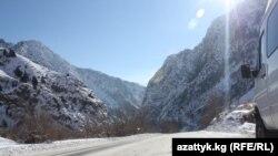Ош-Бишкек автоунаа жолу.