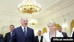 Сустрэча Д.Грыбаўскайце і А.Лукашэнкі летась у Вільні