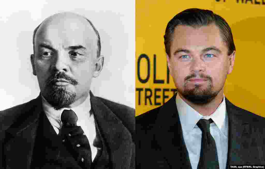 Vladimir Lenin -- Silver-screen star Leonardo DiCaprio bears a striking resemblance to the founder of the Soviet state. ​