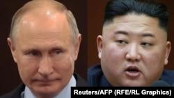 Президент России Владимир Путин и глава Северной Кореи Ким Чен Ын.