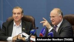 Губернатор Иркутской области Сергей Левченко и лидер КПРФ Геннадий Зюганов