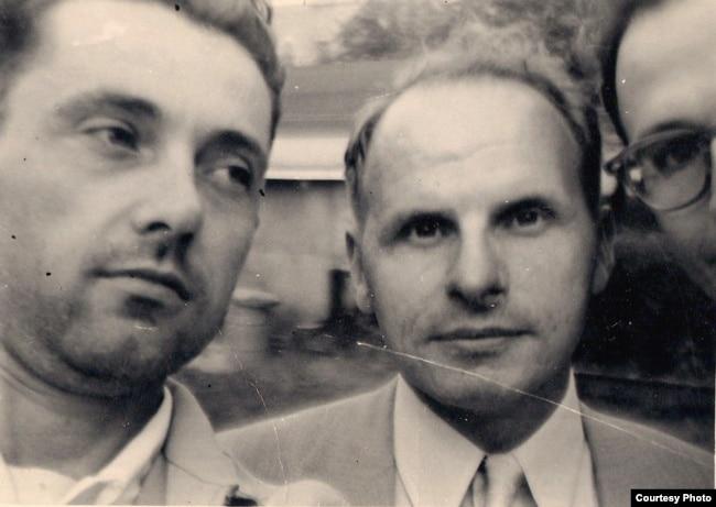 Л. Леман і Масей Сяднёў. Саўт-Рывэр, 1953 год