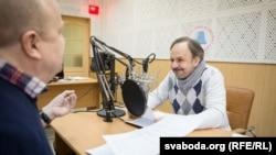 Вячаслаў Ракіцкі і Сяргей Харэўскі ў студыі Радыё Свабода