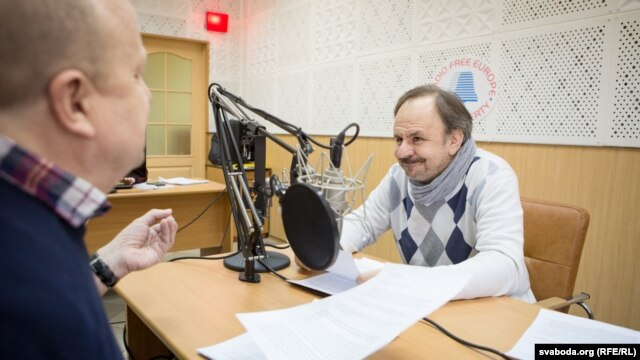 Вячаслаў Ракіцкі іСяргей Харэўскі ўстудыі Радыё Свабода