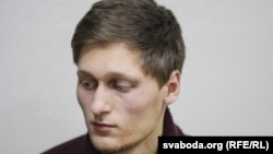 Paval Dabravolski was then detained and fined by the same court on charges of hooliganism and disobeying the police.