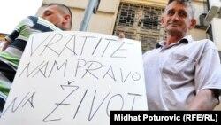 Jedan od radničkih protesta u BiH