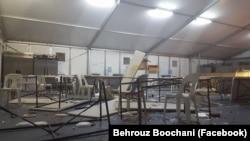 Behrouz Boochani-nin Facebook-a yerləşdirdiyi fotolar