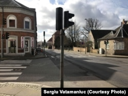 Străzi pustii la Horsens, Danemarca, 18 martie 2020