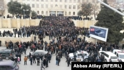 Azerbaijan. Baku. Protests in Sovetski street in Baku