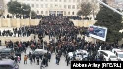 Azerbaijan. Baku. Protests in Sovetski street in Baku