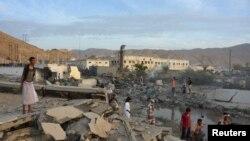 Pamje e shkatërrimeve nga lufta në qytetin Mukalla në Jemen