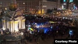 Митинг сторонников евроинтеграции Украины. Киев, 26 ноября 2013 года.