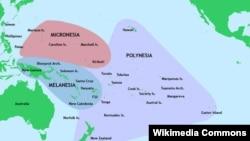 Polynesia – map