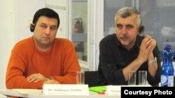 Rasim Garaca (sağda) və Qurban Ələkbərov