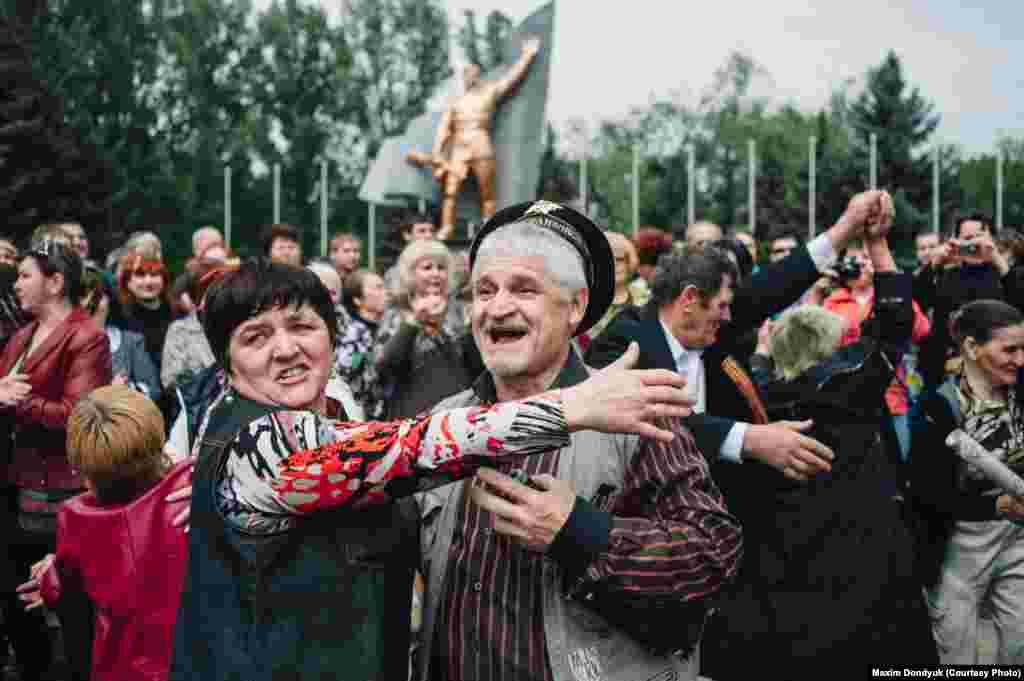 Празднование 9 Мая в Славянске.