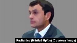 Юрий Савинков – офицер СНБ и бывший глава узбекского подразделения Интерпола. (Художник Мартинш Упитис).