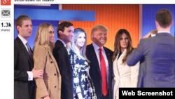 Donald Trump ailəsi ilə