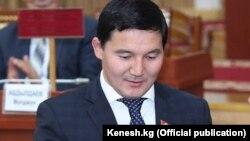 Дамирбек Асылбек уулу, депутат парламента Кыргызстана, задержанный во время спецоперации в отношении предполагаемых контрабандистов в Казахстане.