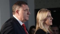 Član Predsjedništva BiH i lider vodeće stranke u Republici Srpskoj Milorad Dodik i predsjednica entiteta Republike Srpske Željka Cvijanović, 10. januar 2020.